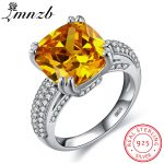 LMNZB Luxury Big Natural Stone Ring Vintage Yellow Zirconia <b>Antique</b> Rings For Women Real 925 Sterling Silver Gift <b>Jewelry</b> LR178