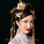 NEW HOT Chinese Style Women Bridal Hair Decoration Wedding Headdress Tassel Headbands Earrings Butterfly Crown Brides Hairwear