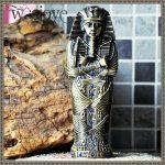 Egypt Pharaoh <b>Jewelry</b> Box Pencil Case Metal Craft Decorative Figurines Egyptian Pharaoh Statu Christmas Home Decoration Gifts