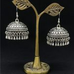 Exquisite <b>Antique</b> Silver Earrings India's Jhumki Classic Tribal <b>Jewelry</b> Middle East Egypt, India Pakistan Thailand