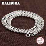 BALMORA 100% Pure 925 Sterling Silver <b>Jewelry</b> Chains Necklaces for Women 925 Sterling Silver Necklace <b>Accessories</b> Bijoux CK0008