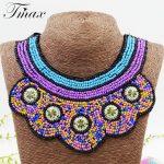 TengMaxi Bohemia Ethnic Necklace&Pendants Statement Women Collar Beads Necklace <b>Antique</b> Tribal Ethnic Boho <b>Jewelry</b> Mujer Bijoux