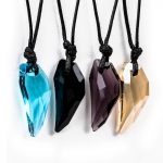 10pcs/lot Shellhard Crystal Stark Wolf Fang Tooth Pendant Necklace Vintage Men <b>Antique</b> Colorful Choker Necklace Fashion <b>Jewelry</b>