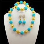 <b>Jewelry</b> Sets For Women Gold-color Ball African Beads <b>Jewelry</b> Set Party <b>Accessories</b> Necklace Earrings Set Wholesale