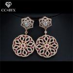 CC earrings for women luxury high quality hollow design stud earring shine wedding <b>accessories</b> bride engagement <b>jewelry</b> E0075