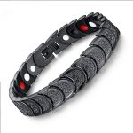 Black Stainless Steel Bracelet For Men Health Care Magnetic Bracelets Bangle Squamiform Protect Design Fashion <b>Jewelry</b> <b>Accessory</b>