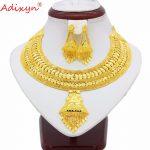Adixyn <b>Jewelry</b> Set Brass For Women Gold Color flexible Choker Chain <b>Jewelry</b> African Bride Wedding <b>Accessories</b> N04189