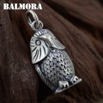 BALMORA Solid 990 Pure Silver Vintage Owl Pendants for Women Men Gifts Animal Thai Silver <b>Jewelry</b> Necklace <b>Accessories</b> SY12394