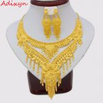 Adixyn NEW 2018 Arab Dubai Necklace/Earrings <b>Jewelry</b> set Gold Color & Copper African Gifts Bride Wedding <b>Accessories</b>