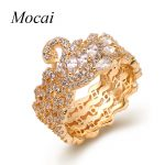 Exclusive Design Luxury Swan Rings For Women Wide Elegant Full Cubic Zirconia Shining Party Ring <b>Jewelry</b> <b>Accessories</b> zk40