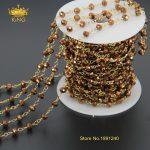 5Meter/Lot Fashion Women <b>Antique</b> Titanium Beads Glass Crystal Pendant Necklace Chain <b>Jewelry</b> JD0103