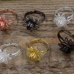 100pcs 16mm Flower Pad ring blank Cameo Tray,<b>Antique</b> Bronze/Gold/Silver Ring setting,Handmade DIY Zakka <b>jewelry</b> Finding
