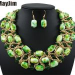 Statement necklace 2018 fashion Vintage Crystal <b>jewelry</b> sets big bead chain dubai <b>jewelry</b> sets Vintage beads Bijoux <b>Accessories</b>