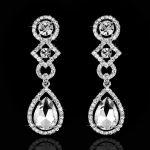 Stunning <b>Art</b> <b>Deco</b> Crystal Pearls Rhinestones Wedding Dangle Earrings Bridesmaids Earrings Bridal Drop Earrings Women <b>Jewelry</b>