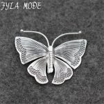 Fyla Mode 925 Sterling Silver Butterfly Pendant for Women Lady Chain Necklace Fashion <b>Antique</b> Thai Silver <b>Jewelry</b> PKY162