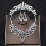 Luxury Silver Color Crystal Wedding Crown Necklace Earring <b>Jewelry</b> Sets For Women Bridal Hair <b>Accessories</b> tiara Hair <b>Jewelry</b>