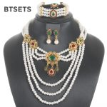 BTSETS Luxury Bridal <b>Jewelry</b> Sets For Women Simulated Pearl Wedding Jewerly Sets Bohemian African Beads <b>Jewelry</b> Set <b>Accessories</b>