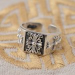 S925 sterling silver ring <b>antique</b> crafts lovers <b>jewelry</b> on behalf of a cross
