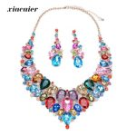 Xiacaier Turkish Bridal Jewellery Sets Women <b>Jewelry</b> Sets Crystal Necklaces Earrings Sets Dresses <b>Accessories</b> Gifts New Wedding