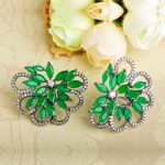 Dazz New Flower Shape Stud Earrings Full Pave Rhinestone Gorgeous Ear <b>Accessories</b> For Ladies Girl Dancing Party Daily <b>Jewelry</b>