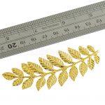 6 Pcs Large Filigree Leaf Branches <b>Jewelry</b> Making Home <b>Art</b> <b>Deco</b> Finding Gold