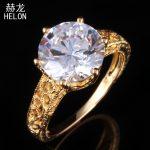 10mm Round Sterling Silver 925 Genuine AAA Graded Cubic Zirconia <b>Art</b> <b>Deco</b> Engagement Vintage Wedding <b>Jewelry</b> Fine Ring wholesale