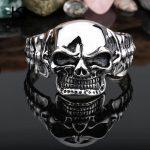 Kalen New Design Stainless Steel Skull Bangle Rock Punk Biker Bangle Bracelet For Men Cool <b>Jewelry</b> Gothic <b>Accessory</b> Gift