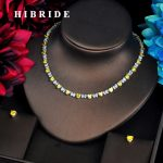 HIBRIDE Fashion Hear Shape <b>Jewelry</b> sets For Women <b>Accessories</b> Yellow CZ Stone Necklace Set Bridal <b>Jewelry</b> Gift Bijoux N-567