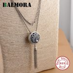 BALMORA Authentic 925 Sterling Silver Peacock Pendant Necklaces for Women Vintage Animal <b>Jewelry</b> <b>Accessories</b> Gifts JLCN80730