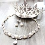 Bride Diaries Quality Handmade Simulated Pearl Necklace Hair Crown With Earrings Wedding <b>Jewelry</b> Set <b>Accessories</b>