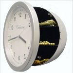 Creative Wall Clock Diversion Safe Secret Security Stash Cash Money <b>Jewelry</b> security box