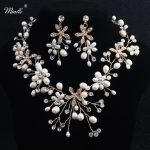 Miallo Freshwater Pearls Necklace Earrings Sets Handmade Wedding <b>Jewelry</b> <b>Accessories</b> Bridal Crystal Jewellery Sets For Women