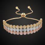 Luxury Brand Three line round cubic zircon bracelet & bangles women Best wedding <b>jewelry</b> Women's love chain bangle <b>accessory</b>