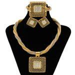 2018 Ethiopian High Quality Gold <b>Jewelry</b> Tassel Crystal Pendant Necklace <b>Jewelry</b> Sets Turkey Bride Wedding <b>Jewelry</b> <b>Accessories</b>