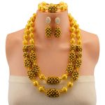 Wholesale Fashion Nigerian Wedding Gold-color African Beads <b>Jewelry</b> Sets For Women Party Dubai <b>Jewelry</b> Set Wedding <b>Accessories</b>