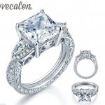 Vecalon Brand <b>Antique</b> <b>Jewelry</b> Female ring 5ct AAAAA Zircon Cz Pure Silver <b>Jewelry</b> Engagement wedding Band ring for women