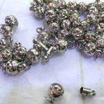 wholesale 50pcs 6-10mm BRASS Magic Clasp Connectors brass Magnetic Clasps round ball gunmetal <b>antique</b> silver <b>jewelry</b> clasp