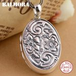 BALMORA 925 Sterling Silver Vintage Pendants for Women Men <b>Accessories</b> Thai Silver Pendant <b>Jewelry</b> Without a Chain SY13153