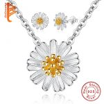 BELAWANG Elegant 925 Sterling Silver Daisy Flower <b>Jewelry</b> Sets for Women Girls Lovely Spring Collection <b>Jewelry</b> <b>Accessories</b>
