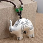 Deer King <b>jewelry</b> wholesale S99 Sterling Silver Heart Elephant Pendant Silver process <b>antique</b> style sweater chain