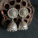 India Retro Birdcage Earrings Handmade <b>Antique</b> Silver Tribal <b>Jewelry</b> BOHO Hippie Wind Pakistani Muslim Thailand Nepal
