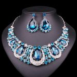 Fashion Indian Jewellery Crystal Necklace & Earrings set Bridal <b>Jewelry</b> Sets for Brides Wedding Costume <b>Accessories</b> Decoration