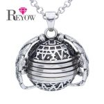 <b>Antique</b> Silver 18mm Four Photo Ball Locket Angel Wing Living Memory Pendant Necklace 30″ Chain <b>Jewelry</b> Charms