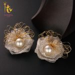 [NYMPH] Natural Southsea Golden Pearls Earrings Fine <b>Jewelry</b> 12-13mm Round Natural Pearl Earrings Women Gift For Party Lace E306