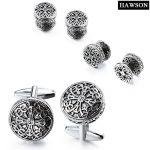 Fashion Cross Cufflinks <b>Antique</b> Silver Round Cuff Links Exquisite Wedding <b>Jewelry</b> Gift with Box