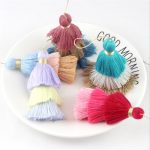 50pcs/lot charms mixed color 3 layer tassel cotton silk tassel Trim for Earring Findings <b>jewelry</b> making DIY Material <b>Accessories</b>