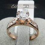 Fashion Women Ring Gold Color Hearts and Arrows SONA CZ Wedding Rings For Women Bridal <b>Accessories</b> <b>Jewelry</b> YH392
