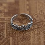 S925 silver <b>jewelry</b> wholesale Silver <b>Antique</b> Style opening ring