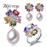 <b>Jewelry</b> sets,Natural freshwater pearl <b>jewelry</b> gifts <b>accessories</b> for women,pearl silver pendant necklace stud earrings ring sets