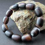 JoursNeige Natural Sardonyx Crystal Bracelet Ellipse Frosted Men <b>Jewelry</b> <b>Accessories</b> Multi Color Lucky Amulet Bracelets